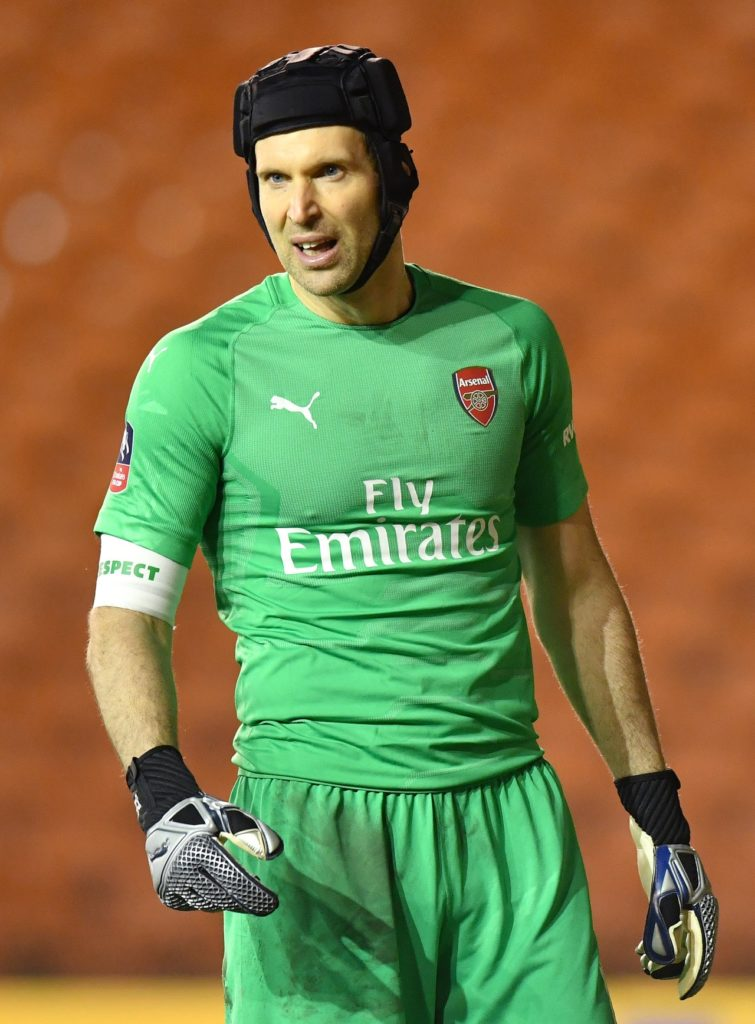 bfc3d45b8ae Arsenal goalkeeper Petr Cech says he is hoping to go out on a high by  lifting