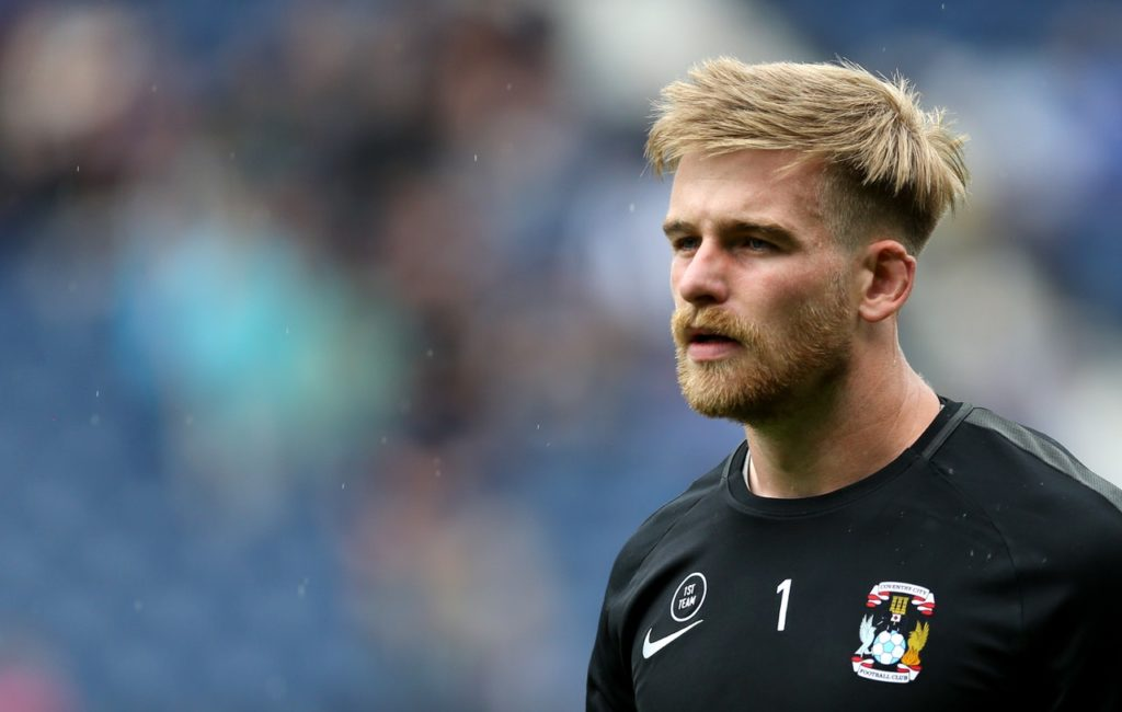 Goalkeeper Lee Burge heads a list of nine players leaving Coventry this summer.