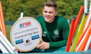 Celtic winger James Forrest has scooped a player of the year double.