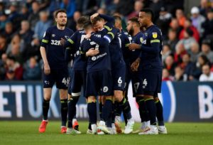 Derby drew 1-1 at Swansea as Frank Lampard's side failed to get the win that would have all but booked their place in the Sky Bet Championship play-offs.