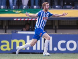 Kilmarnock regained third spot in the race for Europe after a thunderous Stuart Findlay strike secured a 1-0 victory at Hearts.