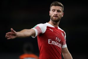 AC Milan are reportedly considering a summer offer for Arsenal defender Shkodran Mustafi.