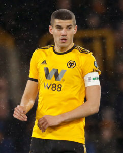 Wolves boss Nuno Espirito Santo has paid tribute to Conor Coady after he managed to play every minute of every game this season.