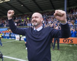 Scotland-bound Steve Clarke bid an emotional farewell to Rugby Park after steering Kilmarnock to their first third-place finish in 53 years.