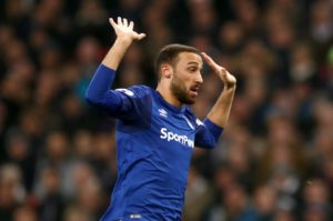Rumours that Besiktas are keen to re-sign Cenk Tosun have grown after he was seen watching the Istanbul giants play Alanyaspor on Monday.