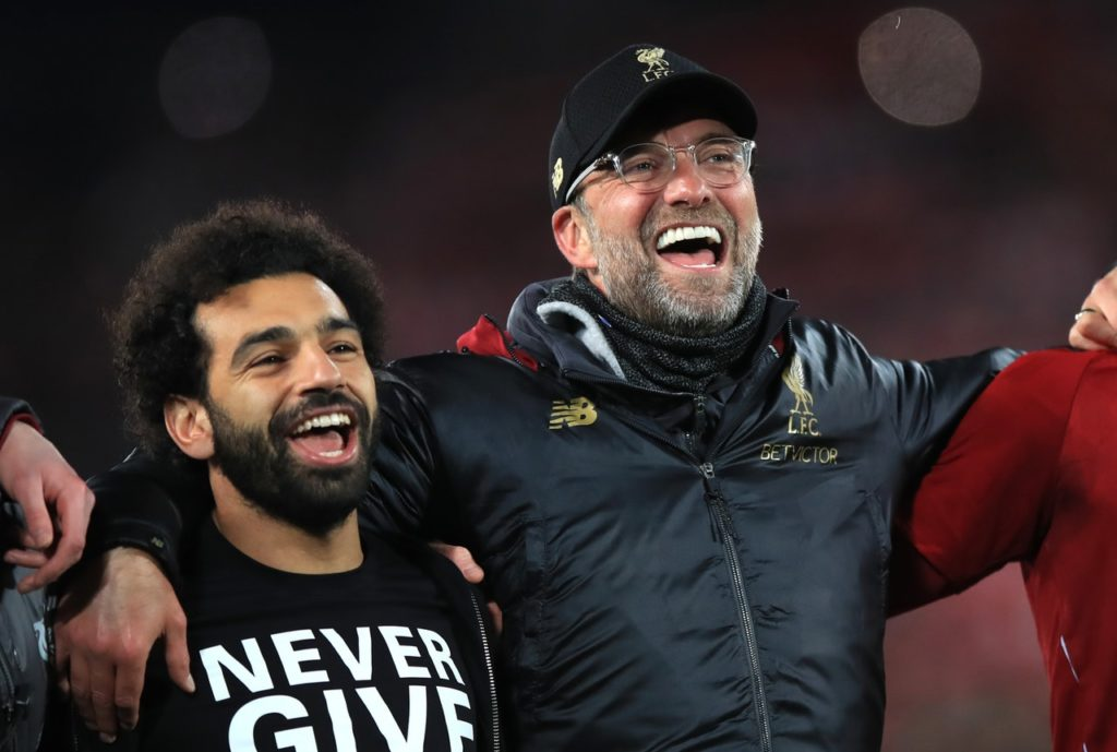 Liverpool could seal the Premier League title on Sunday if they win and Manchester City fail to beat Brighton.