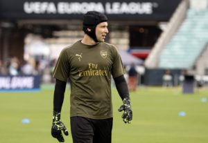 Arsenal boss Unai Emery has yet to confirm whether Petr Cech will start tonight's Europa League Final against Chelsea in Baku.