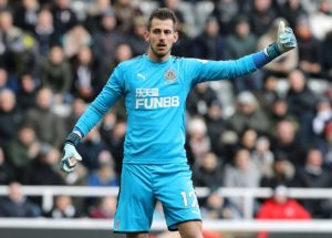 Goalkeeper Martin Dubravka says he is enjoying life with Newcastle United and is not looking to force a summer exit.