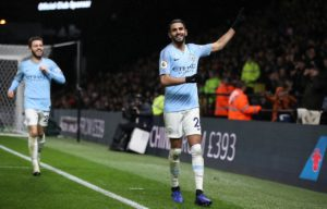 Riyad Mahrez says he is very happy at Manchester City and has no intention of pushing for a move in the transfer window.