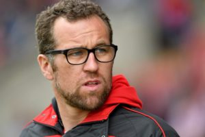 Crewe manager David Artell was left to rue a 'shocking' first half as his side were beaten 2-0 at Grimsby on the final day of the season.