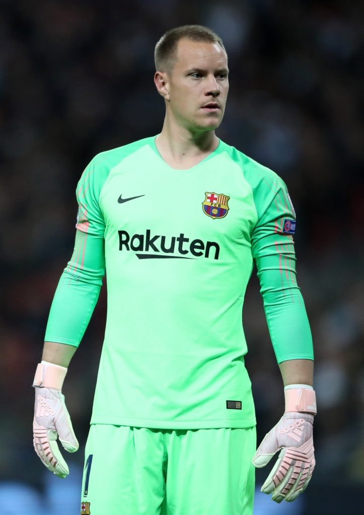 Goalkeeper Marc-Andre ter Stegen is a doubt for Barcelona's Copa del Rey final against Valencia after picking up a knee injury.