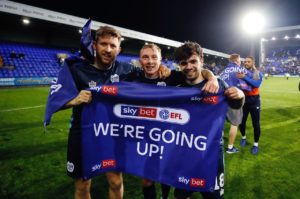 Bury captain Nicky Adams has reflected on an 'unbelievable' season after their promotion to League One was confirmed following a 1-1 draw at Tranmere.