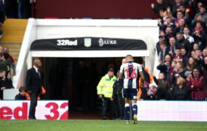 West Brom will be without top-scorer Dwight Gayle for the second leg of their Championship play-off semi-final against Aston Villa at the Hawthorns.