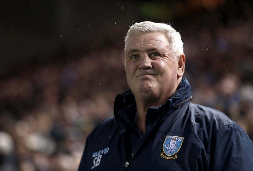 Steve Bruce says getting back into the Premier League is Sheffield Wednesday's goal next season.