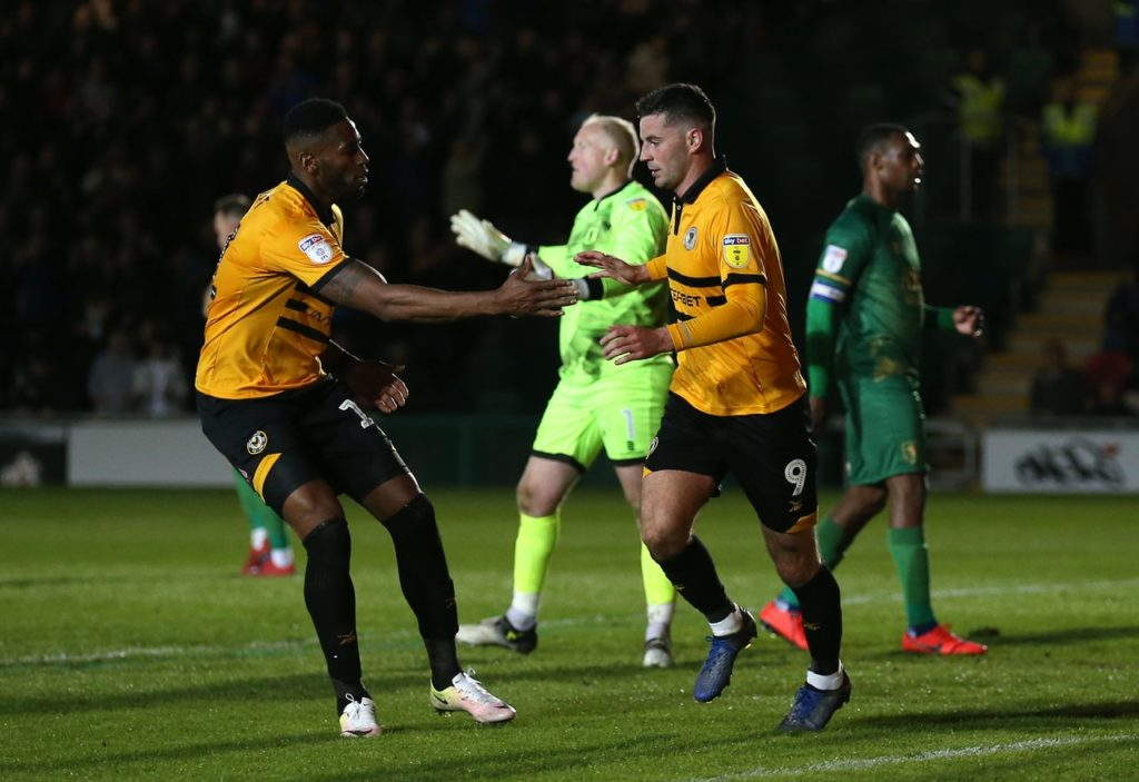 Padraig Amond proved Newport's hero again as Mansfield were denied a Sky Bet League Two play-off semi-final advantage at Rodney Parade.