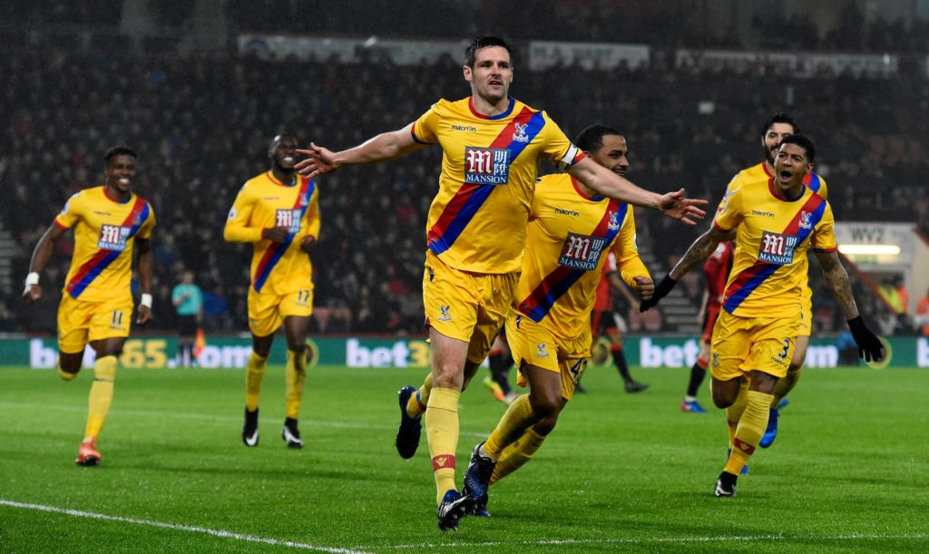 Crystal Palace defender Scott Dann is a doubt for the final game of the season against Bournemouth on Sunday.