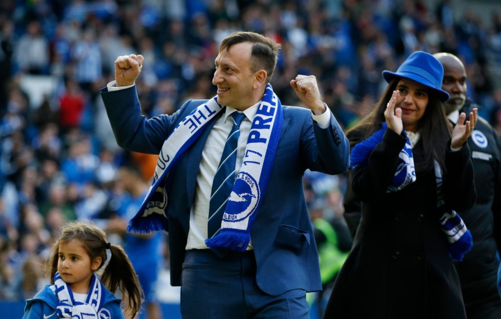 Brighton chairman Tony Bloom was pondering axing manager Chris Hughton four weeks ago after the loss to Cardiff, according to local media.