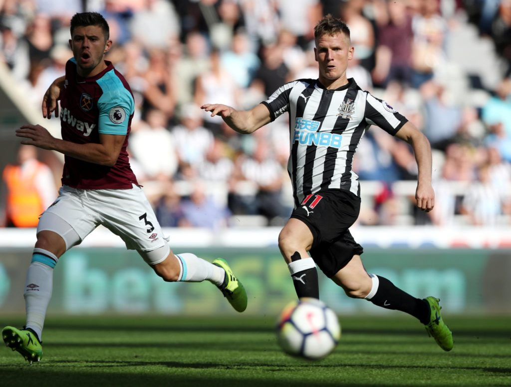 Matt Ritchie insists he is enjoying his role as a wing-back for Newcastle United and feels comfortable in the position.