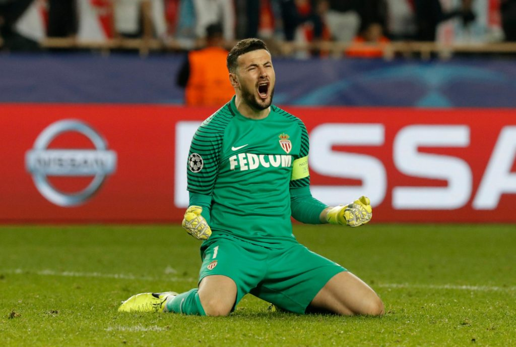 Monaco will be without goalkeeper Danijel Subasic for the remainder of the season due to a hamstring injury.