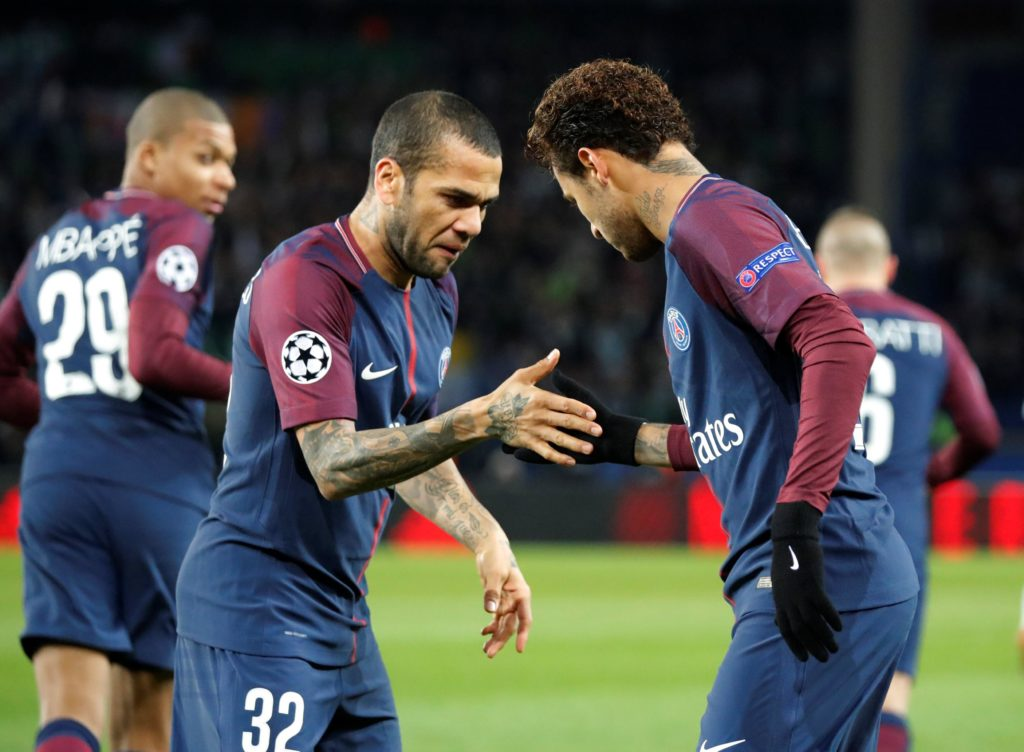 PSG defender Dani Alves is reportedly holding off talks over a new deal in order to attract interest from the Premier League.