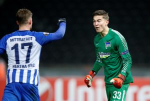 Hertha Berlin goalkeeper Jonathan Klinsmann looks set to move on this summer with Scottish giants Rangers poised to swoop.