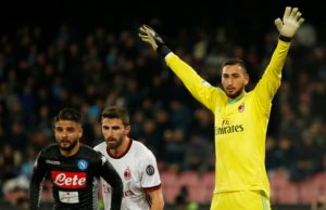 AC Milan will cash in on keeper Gianluigi Donnarumma if they fail to qualify for next season's Champions League.