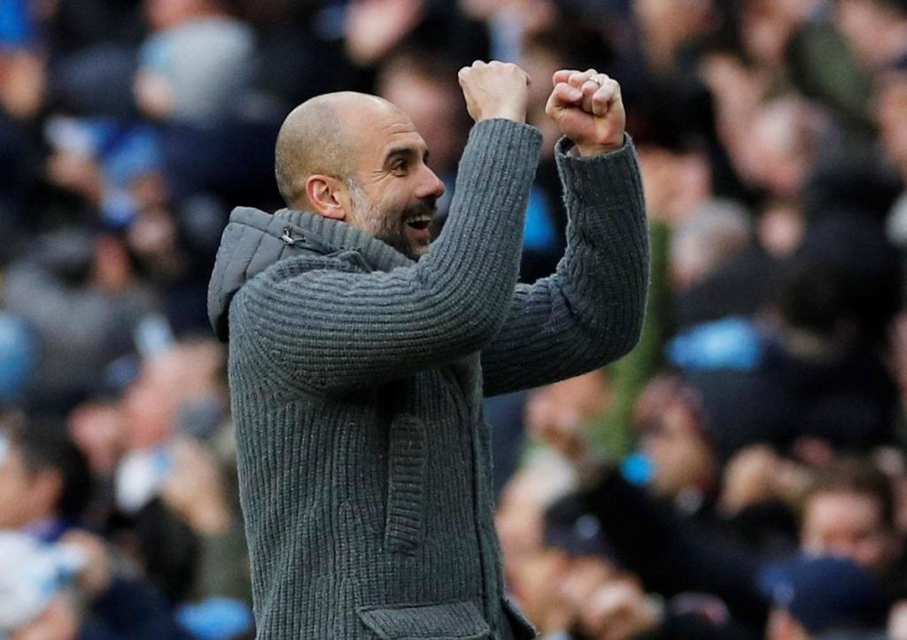Manchester City clinched their fourth Premier League title in eight years but they were given a scare before seeing off Brighton 4-1.