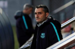 Barcelona boss Ernesto Valverde accepts there will always be pressure in his job and insists he isn't worried about his future.