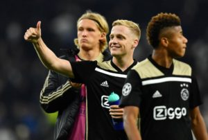 Ajax midfielder Donny van de Beek admits he would not mind staying with club despite reports of a big move away.