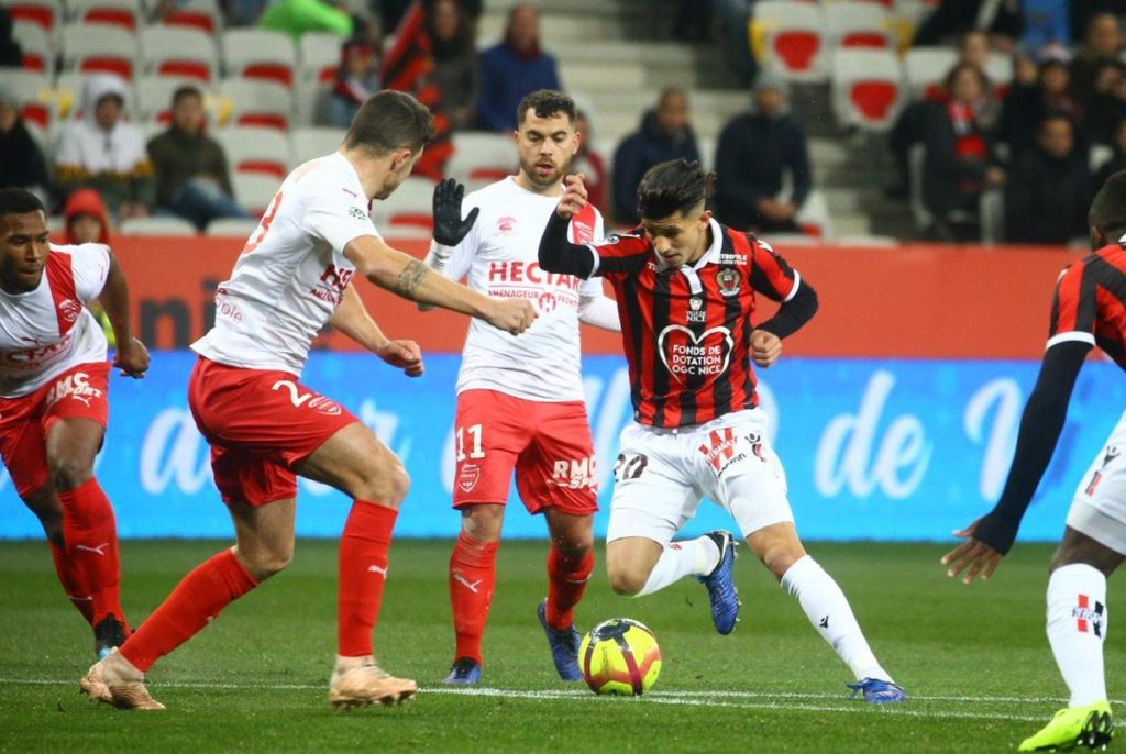 Youcef Atal is shining for Nice.