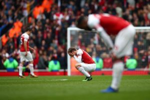 Arsenal saw their top-four hopes all but ended as they were held to a frustrating 1-1 draw by Brighton at the Emirates Stadium.