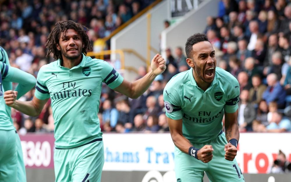 Arsenal missed out on fourth but signed off with a 10th consecutive win over Burnley as Pierre-Emerick Aubameyang netted a brace.