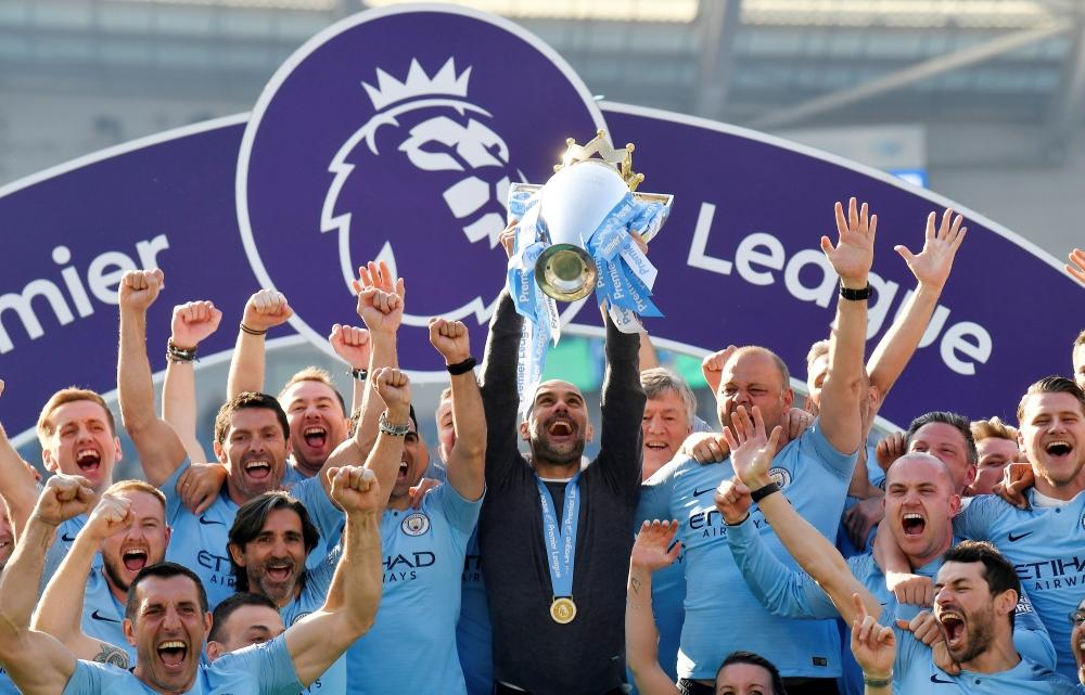 Pep Guardiola says Manchester City's title win has been the most difficult of his career after retaining the Premier League.