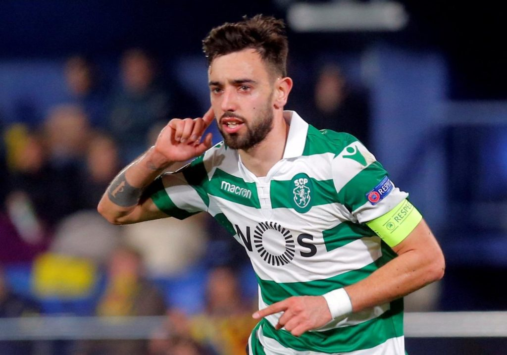 Manchester City target Bruno Fernandes says he is in no rush to leave Sporting Lisbon although he does 'dream' of playing in England.