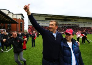 Leyton Orient boss Justin Edinburgh is in hospital after unexpectedly falling ill on Monday morning.