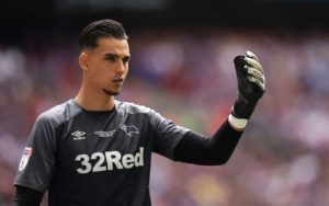 Derby goalkeeper Kelle Roos has signed a new two-year contract with the Rams while Ashley Cole and David Nugent remain without deals, the club has announced.