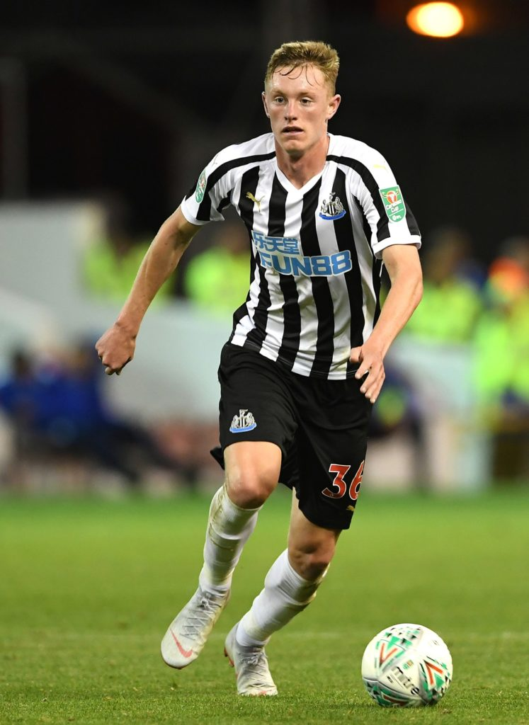 Newcastle United midfielder Scott Longstaff says his recovery from a knee injury has been both mentally and physically draining.