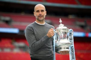 Pep Guardiola believes Manchester City is 'the perfect place to work' and says he will be at the Etihad Stadium for at least the next two seasons.
