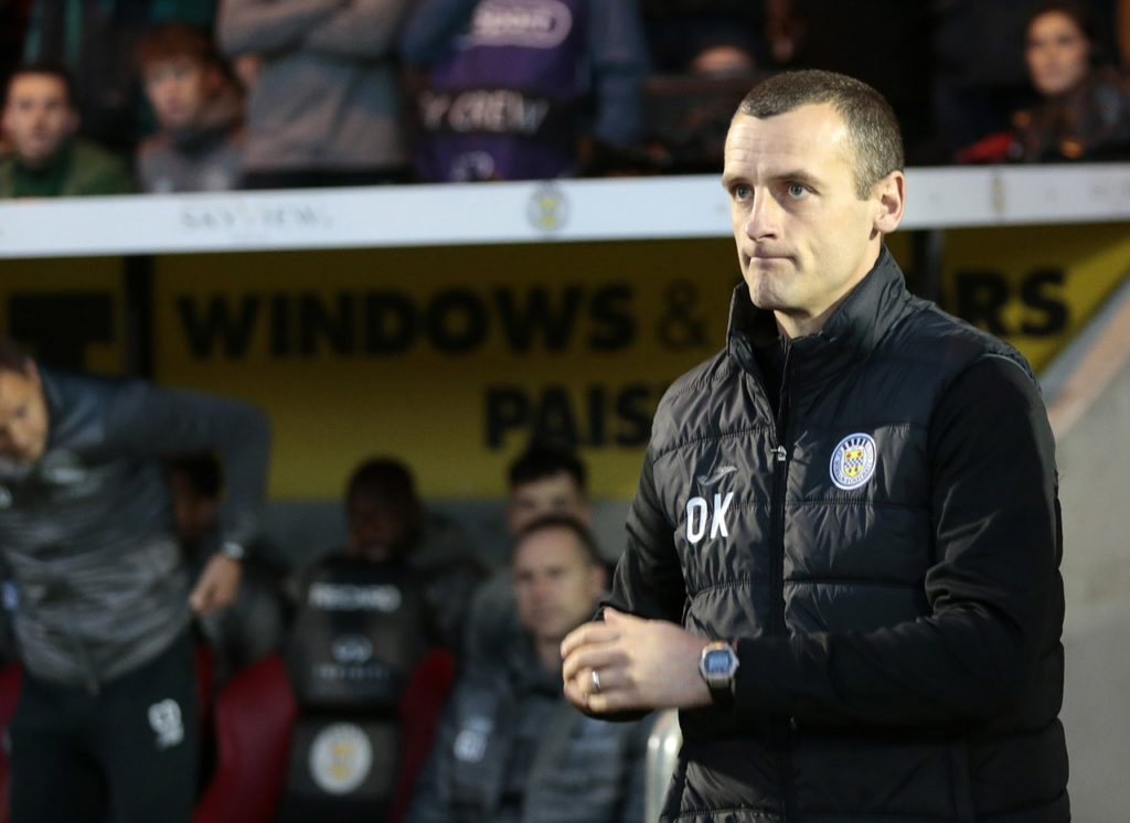 The St Mirren squad remain in the dark over Oran Kearney's future after returning for the first day of pre-season training without their boss.