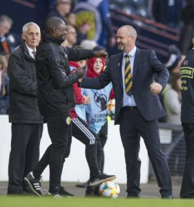Steve Clark began his Scotland reign with a 2-1 victory over Cyprus in their Euro 2020 qualifying group.