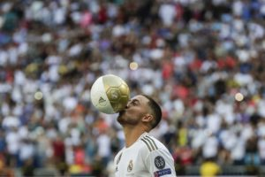 Eden Hazard believes he has the platform to try and become 'the best player in the world' after signing a five-year deal with Real Madrid.