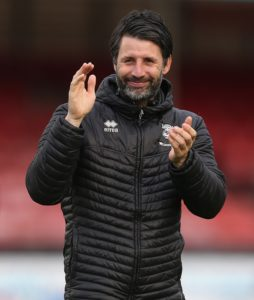 Lincoln City boss Danny Cowley has turned down Huddersfield.