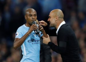 Pep Guardiola is ready to utilise midfielder Fernandinho in central defence next season to prolong the veteran's career at the Etihad.