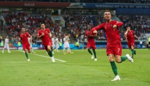 Portugal manager Fernando Santos claims Cristiano Ronaldo is a 'genius' after his hat-trick put them into the Nations League final.