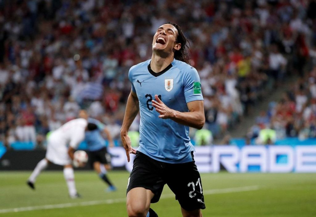 Edinson Cavani admits he was very happy with the professionalism his team showed in their run to topping Group C in the Copa America.