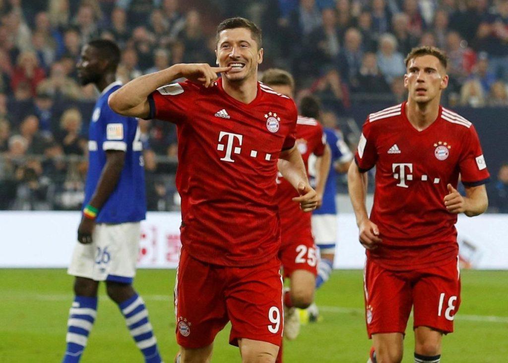 Bayern Munich's Robert Lewandowski says the squad are looking forward to playing alongside Leroy Sane.