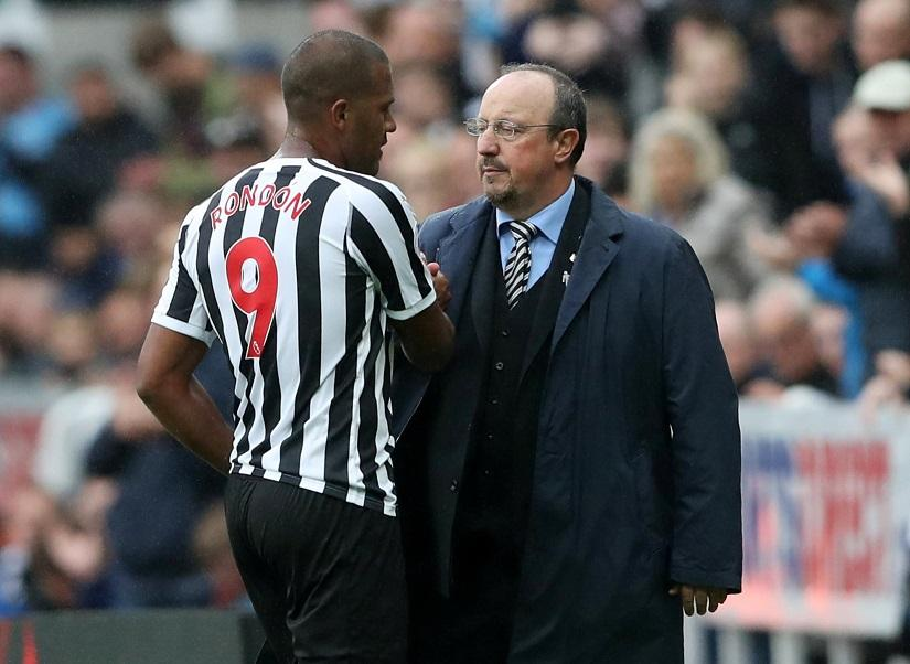 Salomon Rondon's return to Newcastle looks unlikely after Rafa Benitez's departure as the striker wished the departing boss well.