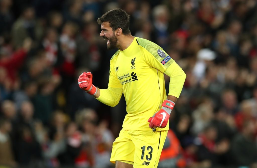 Liverpool's Alisson Becker feels hard work and a slice of luck were behind his save against Napoli in the Champions League.