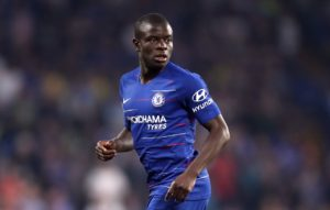 Chelsea boss Frank Lampard will check on the fitness of N'Golo Kante.