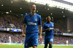 Blackpool are reportedly weighing up whether to make an offer for Rangers winger Jamie Murphy.